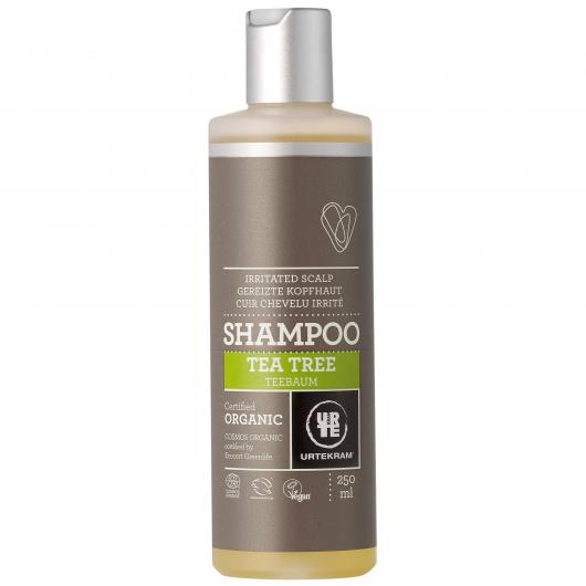 Shampoo Tea Tree antibacteriano Urtekram, 250 ml