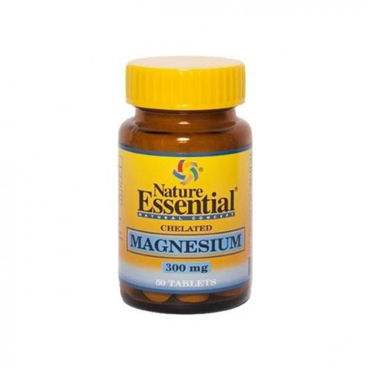Magnesio (Quelado) 300 mg Nature Essentials, 50 cápsulas