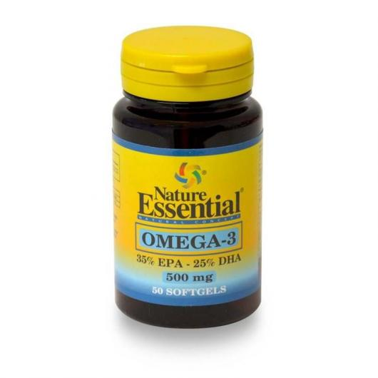 Omega-3 500 mg (EPA 35% DHA25%) Nature Essential, 50 Perlas