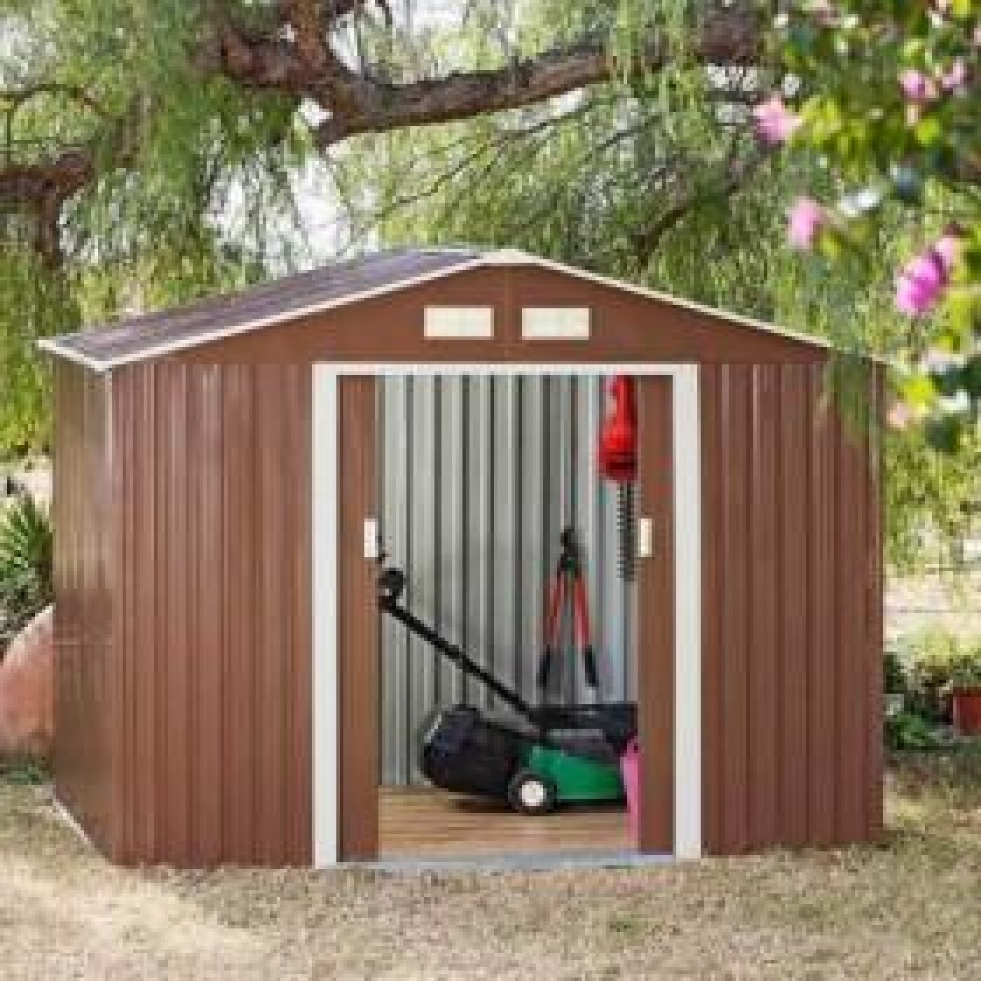 Caseta met lica space brown m2 por 299 99 en for Caseta metalica jardin