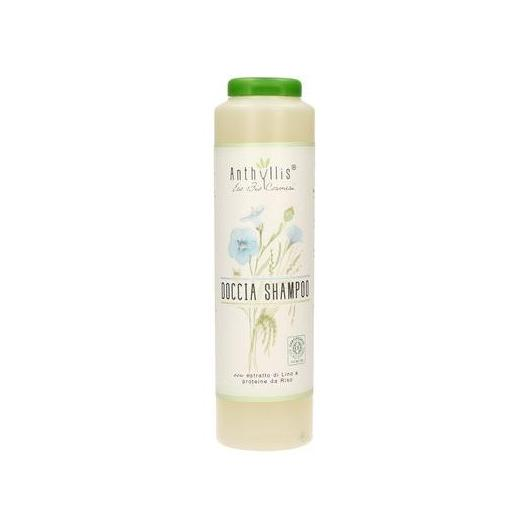 Gel doccia e shampo BIO Lino e riso Anthyllis, 250 ml