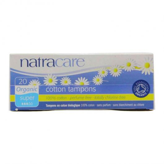 Tampon Super bien Sans Applicateur Natracare 20 unités