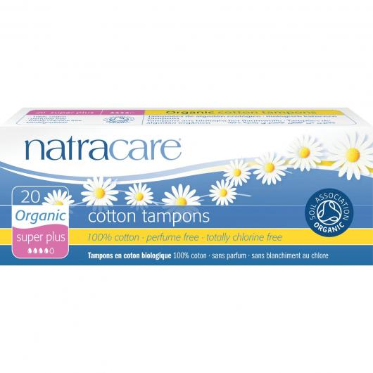 Tampon Super Plus Bio Sans applicateur Natracare 20 unités
