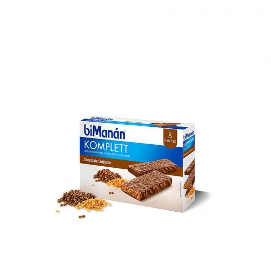 Barre Substitutive Saveur Chocolat Komplett biManán, 8 barres