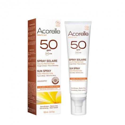 Spray solar SPF50 Acorelle, 100 ml
