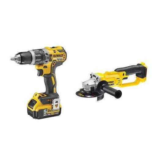 Kit XR DeWalt DCD796P2 Perceuse Li-Ion 5,0Ah + DCG412N Rectifieuse