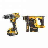 Kit XR DeWalt DCD796P2 Perceuse Li-Ion 5,0Ah + DCH253N Marteau perforateur
