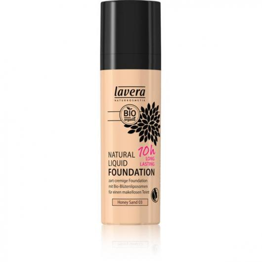 Fond de Teint Fluide Naturel - Honey Sand 01- Lavera 30 m3