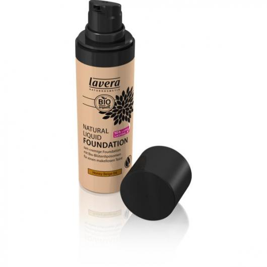 Maquillaje fluido natural - Honey Beige 04 Lavera 30 ml