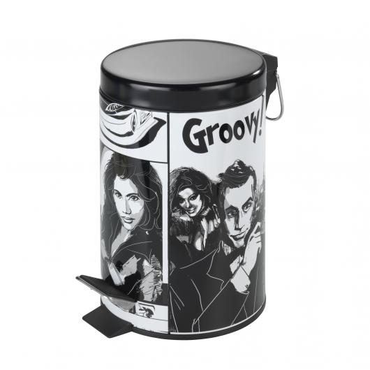 Cubo a pedale per il bagno Groovy, 3 ltr.