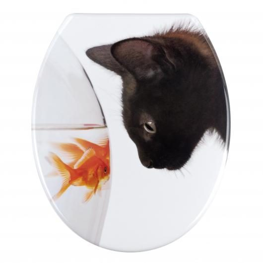 Asiento Tapa WC Fish & Cat, Duroplast