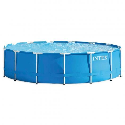 Set completo Piscina Metal Frame 457 x 107 cm Intex