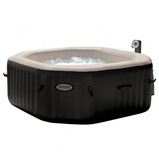 Spa octogonal burbujas y jets 200 x 71 cm negro Intex