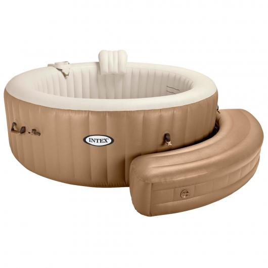 Banco hinchable Purespa crema Intex
