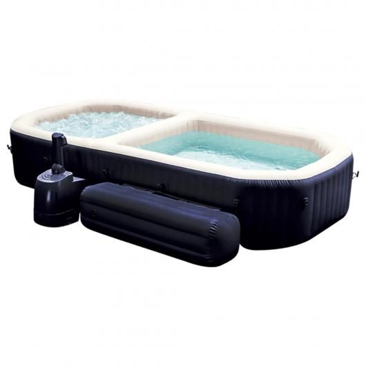 Spa burbujas y piscina con bancos Intex