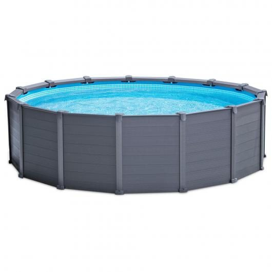 Set completo piscina Graphite 478 x 124 cm Intex