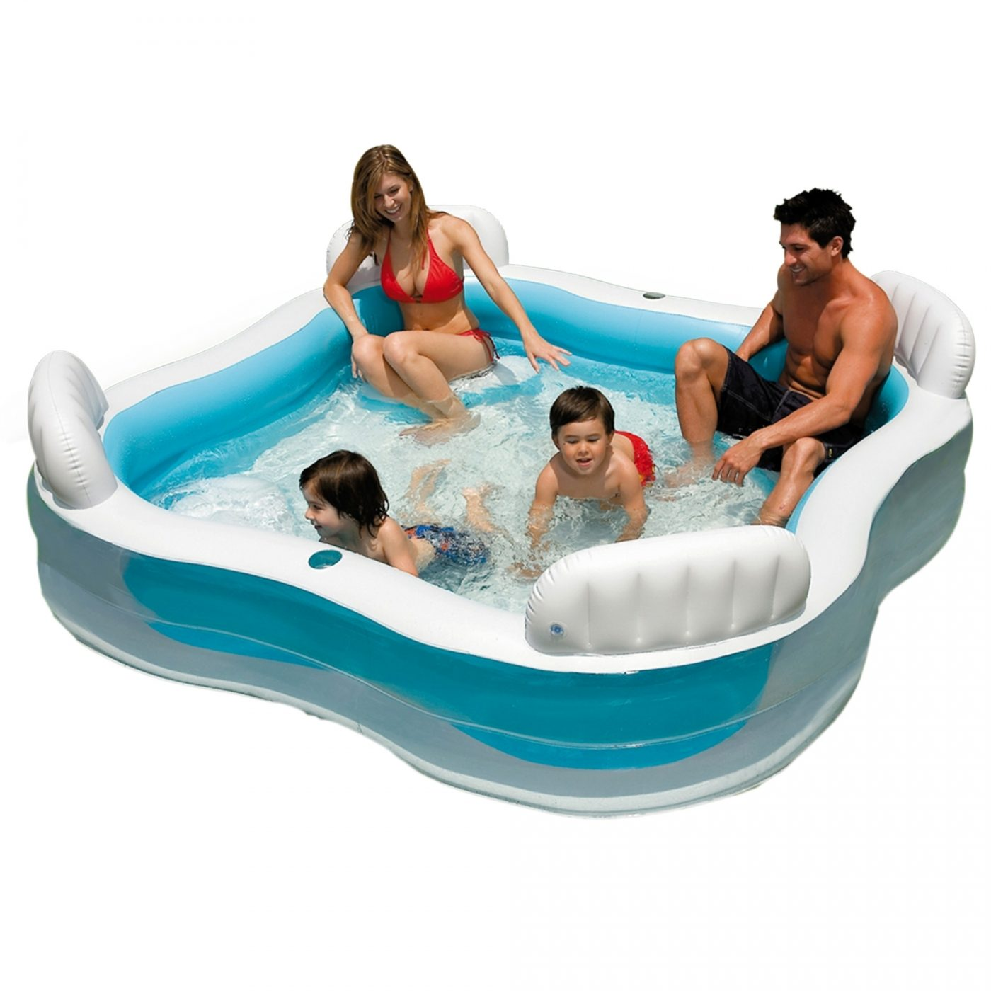 Piscina con asientos y respaldos intex por 36 95 en for Piscina intex cuadrada