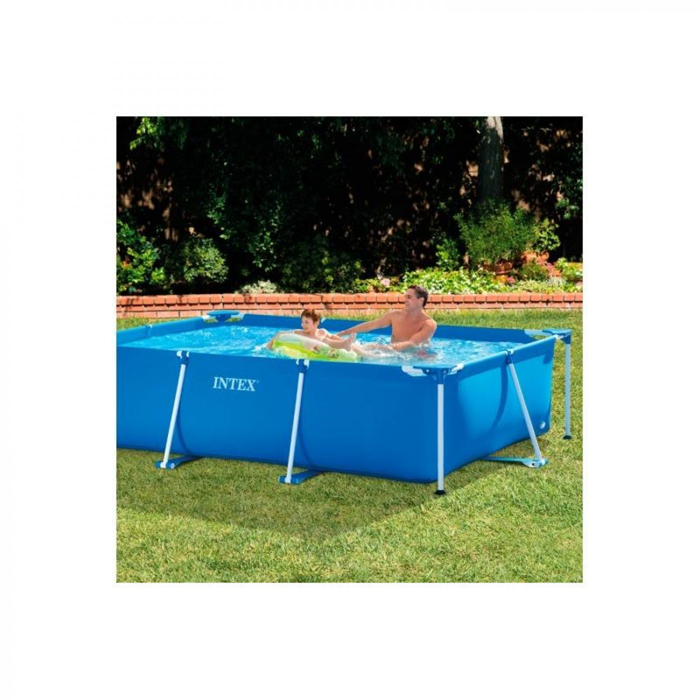 Piscina small frame 300 x 200 x 75 cm intex por 99 95 en for Piscina desmontable rectangular
