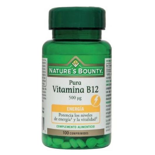 Vitamina B12 500 mcg pura Nature's Bounty, 100 compresse
