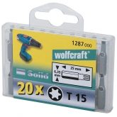 Wolfcraft 1288000 - 20 embouts Torx 25mm