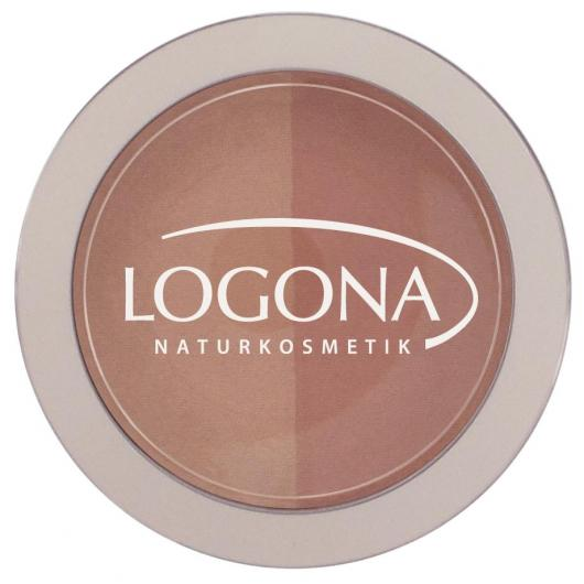 Colorete Duo Peach + Apricot Logona, 10g