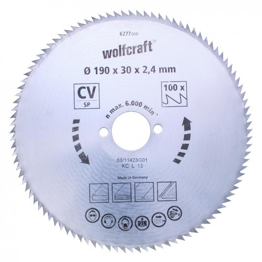 Wolfcraft lame de scie circulaire 80 dents