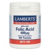 Acide Folique 400 mcg Lamberts, 100 tablettes