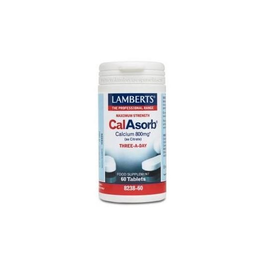 CalAsorb® 800 mg  Lamberts, 60 tabletas