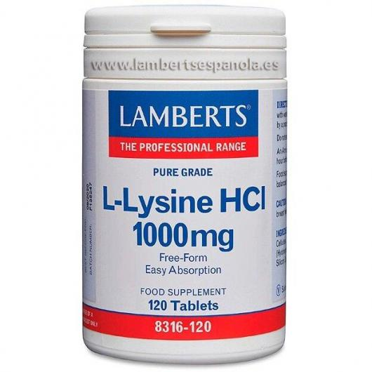 L-Lysine 500 mg Lamberts, 120 tablettes