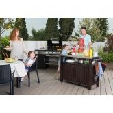 Table-coffre auxiliaire barbecue