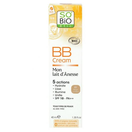 BB Crema SO'BIO étic nº1 40 ml.