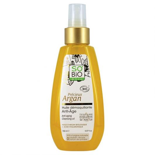 Olio struccante Anti- etá SO'BIO étic 150 ml