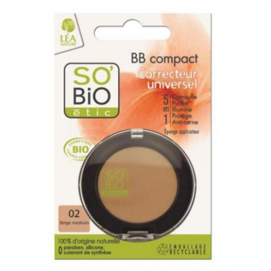 BB Compact 5 in 1 Correttore 02 beige medium SO'BIO étic 3,8 g