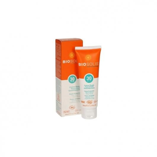 Crema solar Facial SPF30 BioSolis, 50 ml