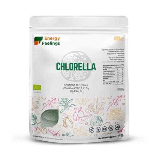Chlorella BIO en polvo Energy Fruits