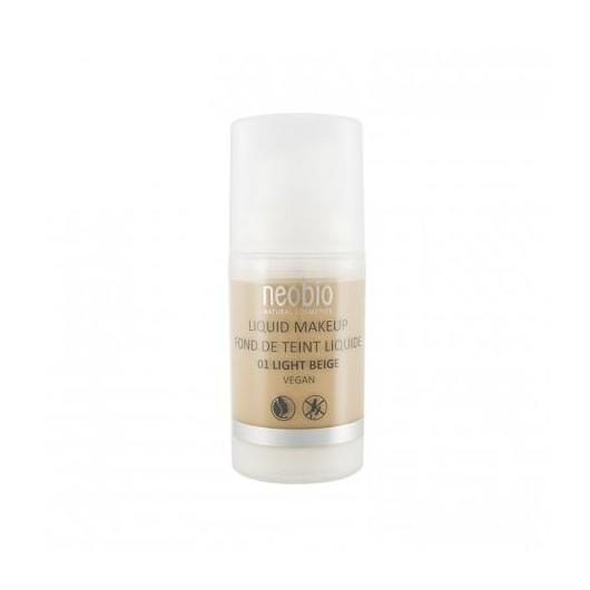 Maquillaje Fluido 01 Light Beige Neobio, 30 ml