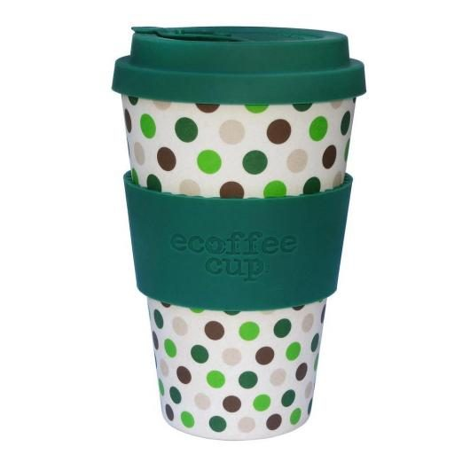 Tazza di Bambú Green Polka Ecoffee Alternativa 3, 400 ml