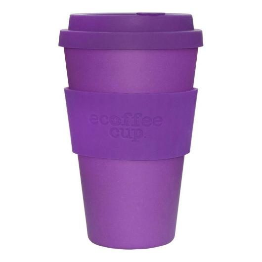 Tazza de Bambú Purple Reign ecoffee Alternativa 3, 400 ml