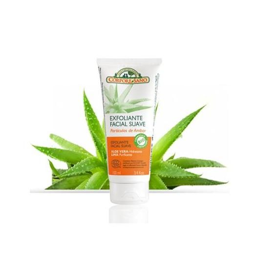Crema esfoliante viso all'ambra, aloe vera e lime, Corpore Sano, 100 ml