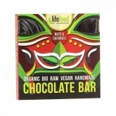 Chocolate BIO con nueces y cerezas Life Food, 35 g