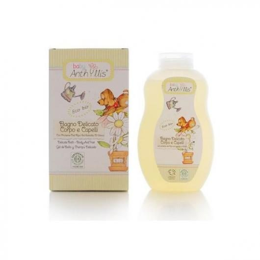 Gel de baño y champú delicado con proteína de arroz ECO Anthyllis Baby, 400 ml