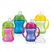 Copo SuperSpout bocal de silicone suave anti-gotejo, Nuby, 240 ml 1 un