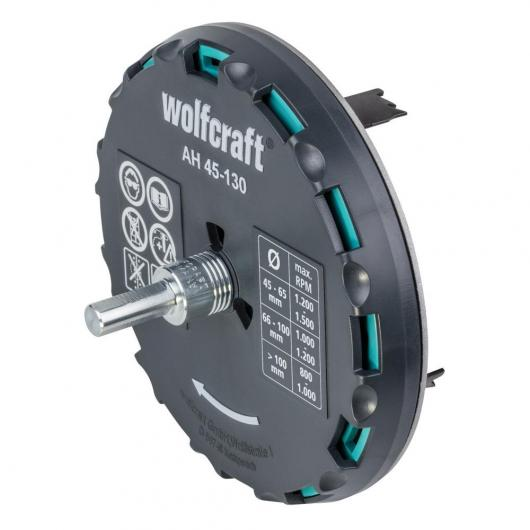 Sierra de corona ajustable Ø 45 - 130 mm 5978000 Wolfcraft