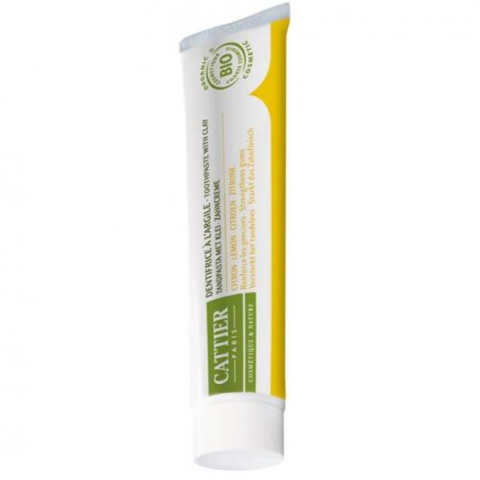 Dentifrice au citron Dentargile Cattier, 75 ml