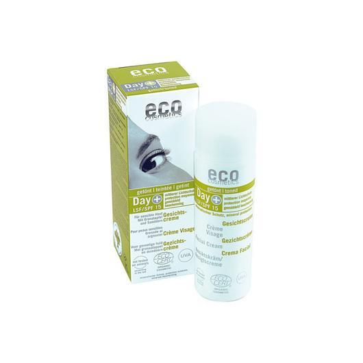 Crema viso color FPS 15 EcoCosmetics, 75ml