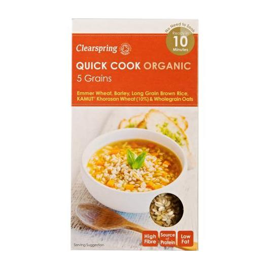 Quick cook 5 cereales Clearspring, 250g