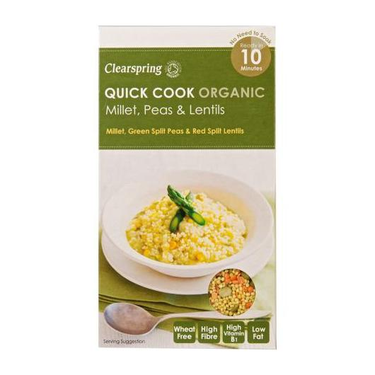 Quick cook mijo, guisantes y lentejas Clearspring, 250g