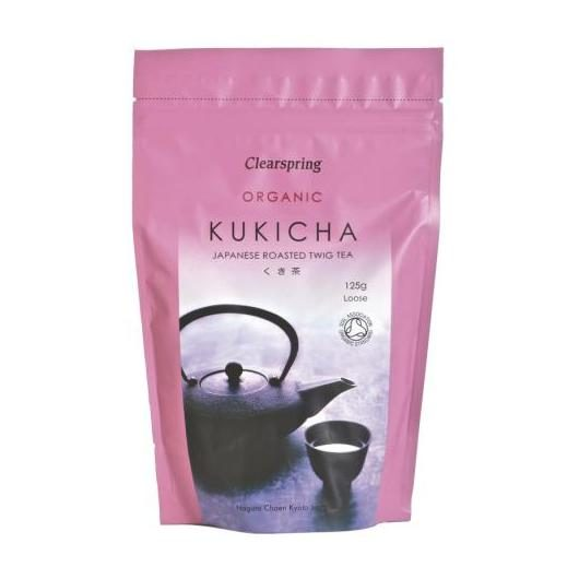 Té kukicha a granel Clearspring, 125 g