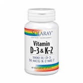 Vitamina ​D3-K2 Solaray, 60 compresse vegetali