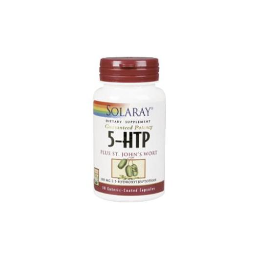 ​5-HTP with St.John's Wort Solaray, 30 cápsulas